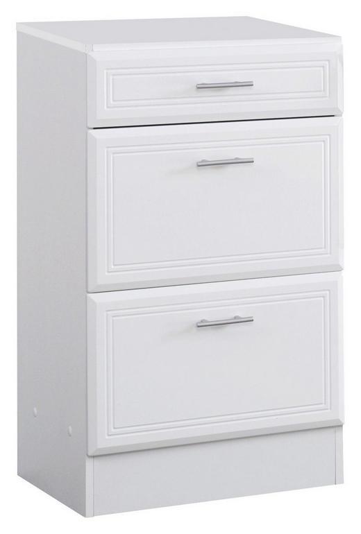 UNTERSCHRANK Weiß - Silberfarben/Weiß, Design, Holzwerkstoff/Kunststoff (50/84/35cm) - Carryhome