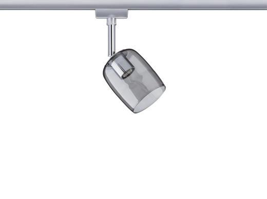 SCHIENENSYSTEM-STRAHLER - Chromfarben, Design, Glas/Metall (7,4/12,8/11,5cm) - Paulmann