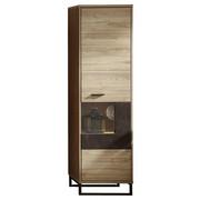 VITRÍNA, barvy dubu, barvy wenge - barvy dubu/barvy wenge, Moderní, kov/kompozitní dřevo (49/174/38cm) - Stylife