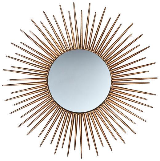 WANDSPIEGEL Goldfarben - Goldfarben, LIFESTYLE, Glas/Metall (75/75/4cm)