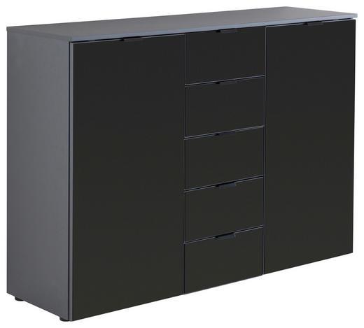 SIDEBOARD 140/100/42 cm - Schwarz/Graphitfarben, Design, Glas/Holzwerkstoff (140/100/42cm) - Hom`in