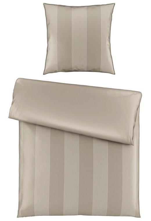 BETTWÄSCHE Satin Taupe 155/220 cm - Taupe, KONVENTIONELL, Textil (155/220cm) - Ambiente