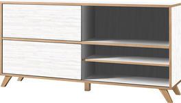 REGAL in 180/92/40 cm Eichefarben, Weiß - Eichefarben/Weiß, Design, Holzwerkstoff (180/92/40cm) - Xora