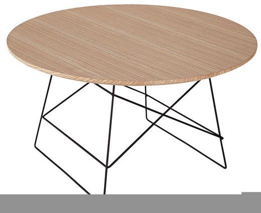 COUCHTISCH Eiche rund Eichefarben, Schwarz - Eichefarben/Schwarz, Design, Holz/Metall (70/40cm) - Innovation