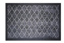 FUßMATTE 40/60 cm Karo Schwarz, Weiß - Schwarz/Weiß, Basics, Kunststoff/Textil (40/60cm) - Esposa
