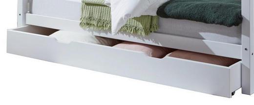 BETTKASTEN Weiß - Weiß, Design, Holz/Kunststoff (194,5/94/19cm)