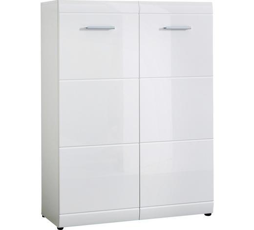 BOTNÍK, bílá,  - bílá/barvy stříbra, Design, kompozitní dřevo/umělá hmota (89/120/37cm) - Xora