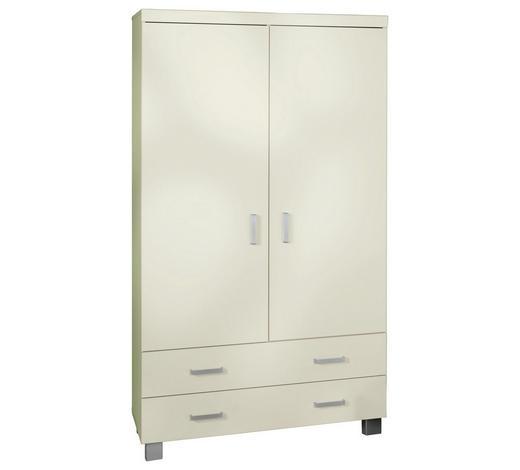KLEIDERSCHRANK 2-türig Weiß  - Silberfarben/Weiß, Design, Holzwerkstoff/Metall (109,9/199,2/55,9cm) - Paidi