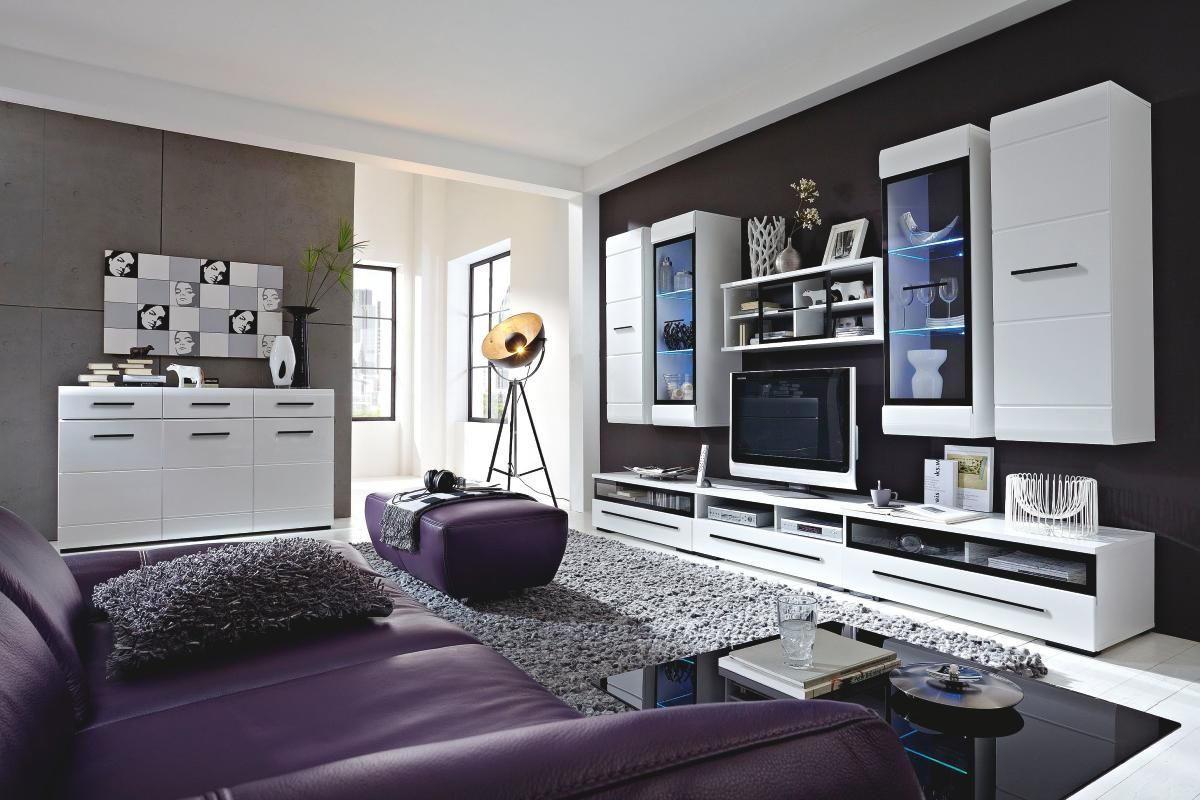 REGAL ZA DNEVNI BORAVAK - bijela/crna, Design, staklo/drvni materijal (300/200/50cm) - XORA