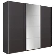 Schwebetürenschrank in Grau - Chromfarben/Grau, Design, Glas/Holzwerkstoff (270/230/62cm) - Xora