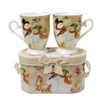 SET 2/1 LONČEK ZA KAVO TWIST - večbarvno, Basics, keramika (19,6/11,4cm) - X-Mas