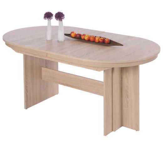 ESSTISCH oval Sonoma Eiche - Sonoma Eiche, Design, Holzwerkstoff (160-310/90/75cm) - Carryhome