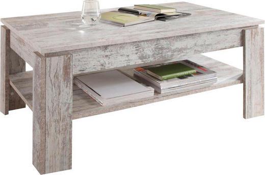 COUCHTISCH rechteckig Pinienfarben, Weiß - Weiß/Pinienfarben, Design (110/65/47cm) - Carryhome
