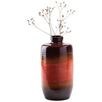 VASE 23,5 cm - Braun/Orange, KONVENTIONELL, Keramik (12,3/23,5cm) - Ambia Home