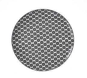 MATTALLRIK - vit/svart, Trend, keramik (26,5cm) - Ritzenhoff Breker