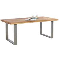 ESSTISCH Wildeiche Massiv Rechteckig Eichefarben   Eichefarben, Design,  Holz/Metall (200/ ...