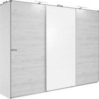 SCHWEBETÜRENSCHRANK in Eichefarben, Weiß - Eichefarben/Alufarben, Design, Holzwerkstoff (270/210/65cm) - Carryhome