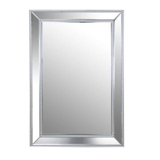 SPIEGEL Recyclingholz Silberfarben - Silberfarben, Design, Glas/Holzwerkstoff (80/120/4,5cm) - Xora