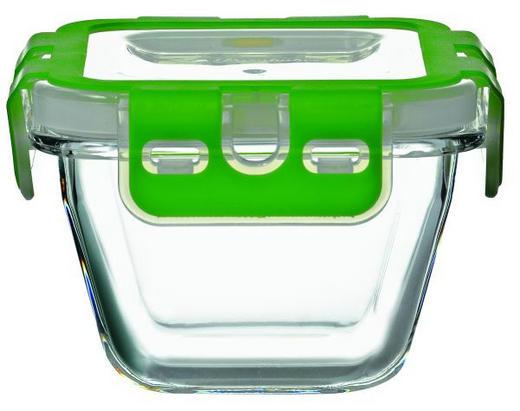 POSUDA ZA ČUVANJE NAMIRNICA - zelena/prozirno, Basics, staklo/plastika (6,4/6,5/10,5cm) - Novel