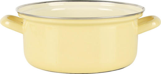 Kasserolle - Gelb, Basics, Metall (27/21,5/9,5cm) - Riess