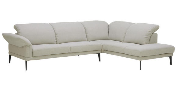 WOHNLANDSCHAFT in Textil Silberfarben - Anthrazit/Silberfarben, Natur, Textil/Metall (281/226cm) - Valnatura
