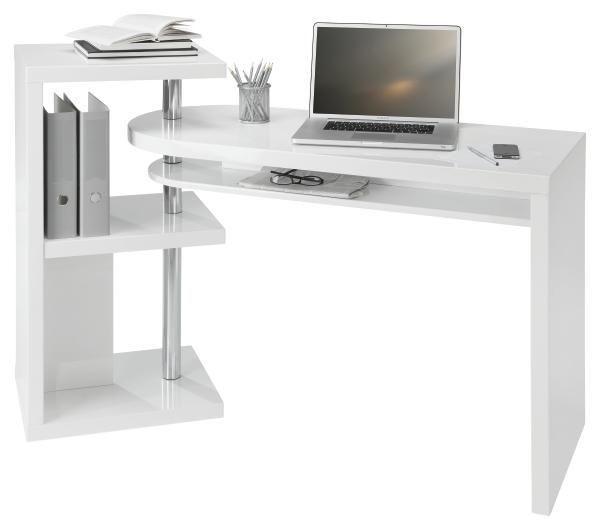 PISAĆI STOL - bijela, Design, drvni materijal/metal (115/76/50cm) - NOVEL