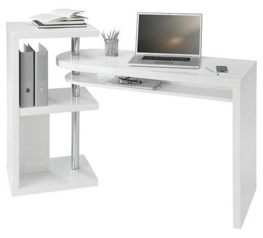 PSACÍ STŮL - bílá, Design, kov/dřevo (115/76/50cm) - Novel