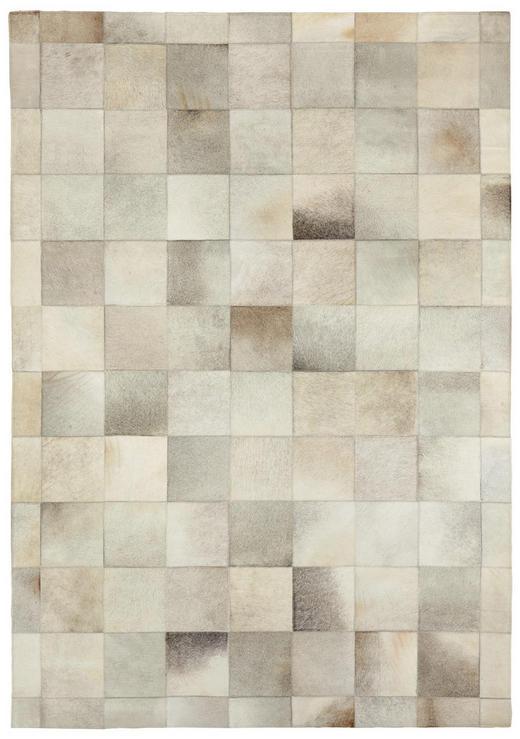 LEDERTEPPICH  140/200 cm  Hellgrau - Hellgrau, Basics, Leder/Textil (140/200cm) - Linea Natura