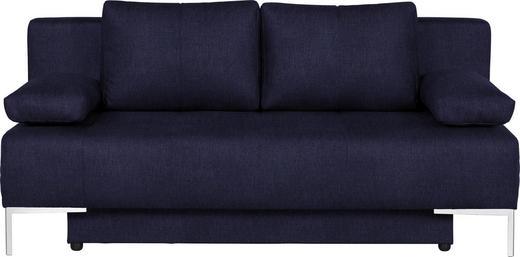 SCHLAFSOFA in Textil Dunkelblau - Chromfarben/Dunkelblau, Design, Textil/Metall (193/85/89cm) - Carryhome