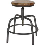 TABURET - šedá/hnědá, Design, kov/dřevo (32/48-60/32cm) - Ambia Home