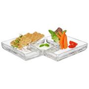 SNACKSCHALE - Transparent, Design, Glas (32,00/4,10/21,90cm) - LEONARDO