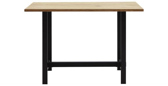 BARTISCH in Holz, Metall 140/70/110 cm   - Eichefarben/Schwarz, Design, Holz/Metall (140/70/110cm) - Valnatura