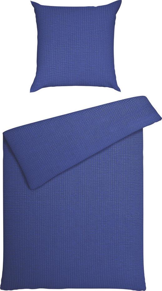 BETTWÄSCHE Seersucker Blau 155/220 cm - Blau, Basics, Textil (155/220cm) - Janine