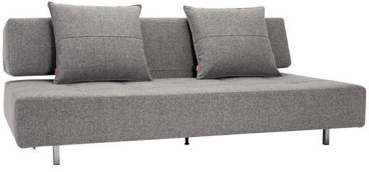 SCHLAFSOFA Grau - Edelstahlfarben/Grau, Design, Textil/Metall (210/79/113cm) - Innovation
