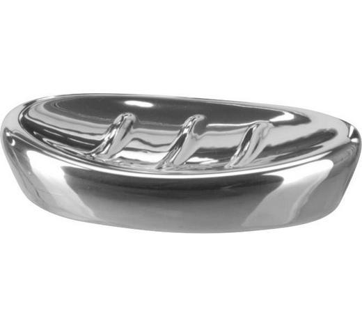 SEIFENSCHALE Keramik  - Edelstahlfarben, Basics, Keramik (8,5/2,5/12,5cm) - Sadena