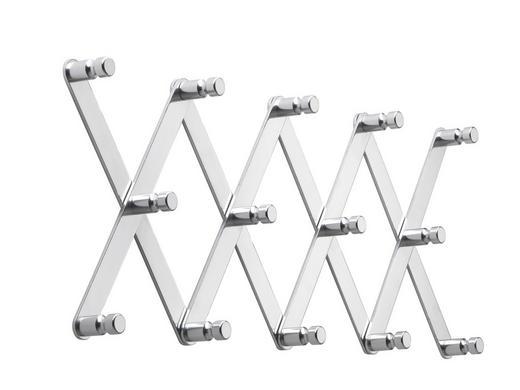 WANDGARDEROBE Alufarben - Alufarben, Design, Metall (80/29/4,5cm)