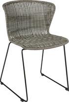 ŽIDLE, umělá hmota, šedá, - šedá/černá, Design, kov/umělá hmota (54,5/77,5/54cm) - Ambia Home