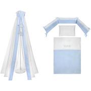 SET ZA POSTELJICO BLUE STAR - modra/bela, Basics, tekstil - Patinio