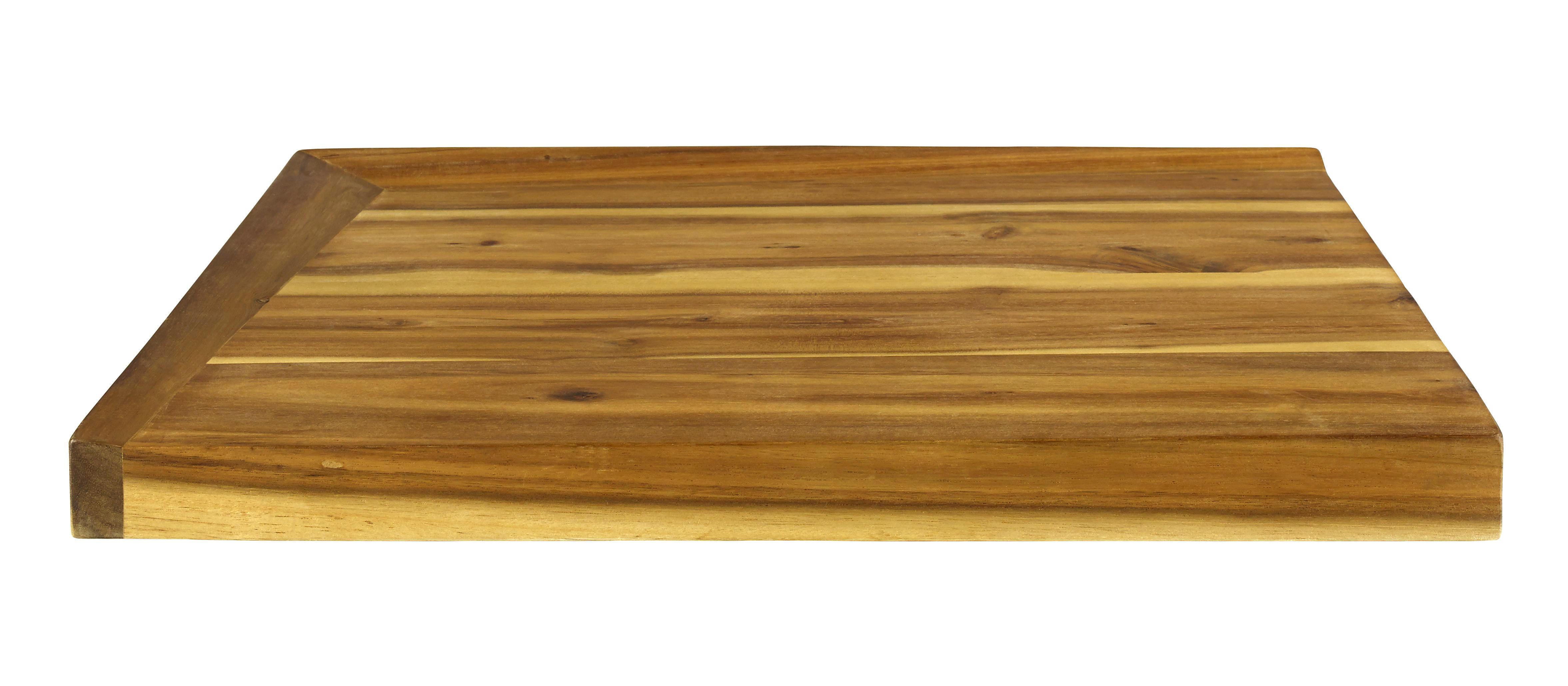 SCHNEIDEBRETT Holz Akazie - Naturfarben, LIFESTYLE, Holz (48/36,5/4cm) - HOMEWARE