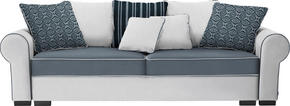 BIG SOFFA - vit/brun, Romantik / Lanthus, textil/plast (256/74-90/106cm) - Hom`in