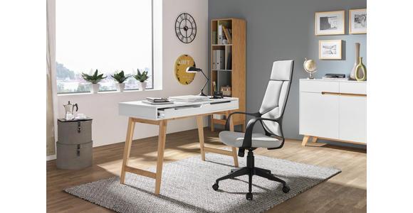 SCHREIBTISCH - Eichefarben/Weiß, Design, Holz/Holzwerkstoff (120/75/50cm) - Hom`in