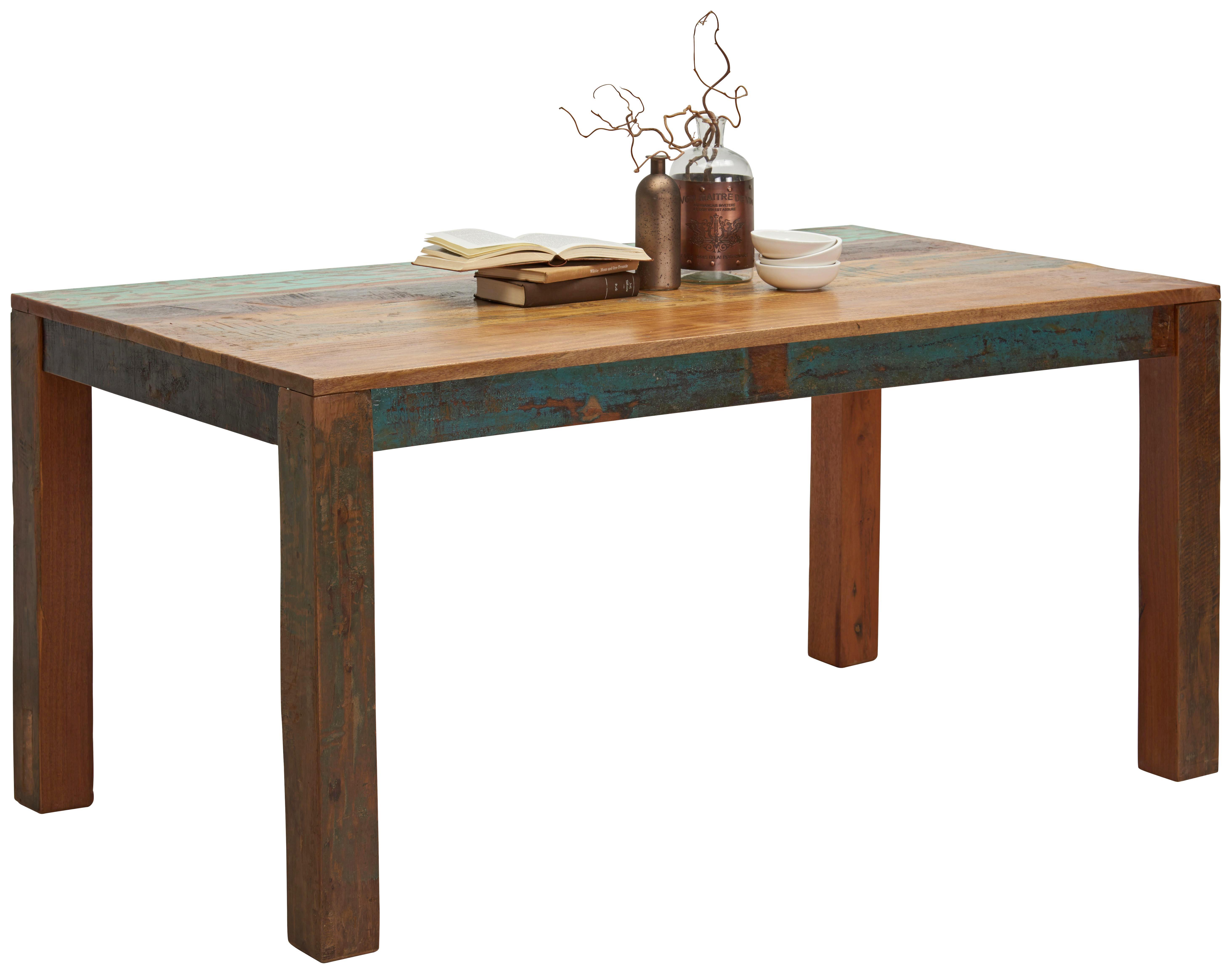 ESSTISCH in massiv Akazie, Recyclingholz Akaziefarben - Akaziefarben, Trend, Holz (160/76/90cm) - Ambia Home