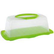 MATBEHÅLLARE - klar/grön, Basics, plast (40/15/20cm) - Homeware