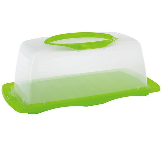 UMĚLOHMOTNÝ BOX - zelená/čiré, Basics, umělá hmota (40/15/20cm) - Homeware