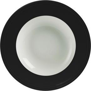 DJUP TALLRIK - vit/svart, Design, keramik (23cm) - Novel