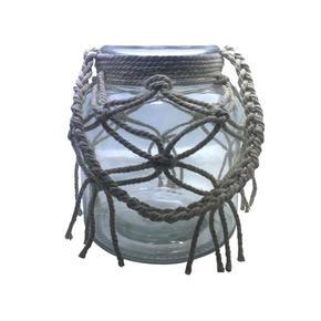 LJUSLYKTA - klar/naturfärgad, Lifestyle, glas/textil (14/16cm) - Ambia Home