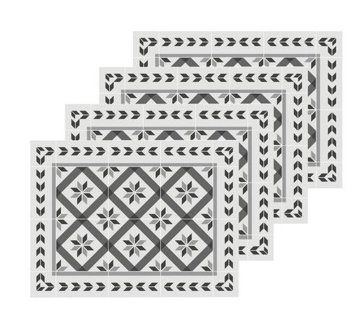 Tischset 4-teilig - Graphitfarben/Weiß, LIFESTYLE, Kunststoff (40/30cm)