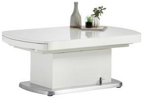 SOFFBORD - vit/silver, Design, metall/glas (120-180/75/50-78cm) - Venda