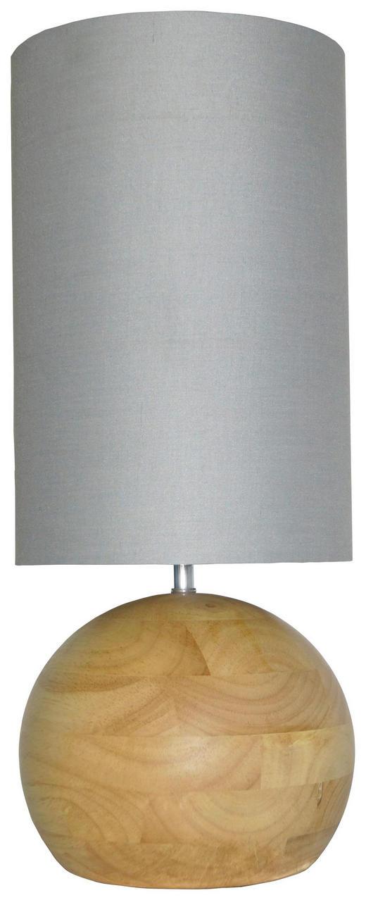 TISCHLEUCHTE - Ahornfarben/Grau, LIFESTYLE, Holz/Textil (20/48/20cm)