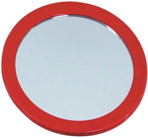 KOSMETIKSPIEGEL Rot - Rot, Basics, Glas/Kunststoff (16/16/3cm)